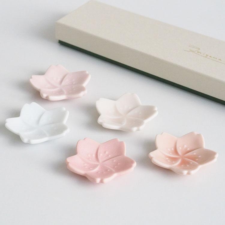 【ギフトセット箱入り】深山(miyama.) さくら箸置五色組