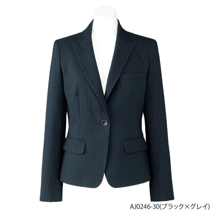 事務服 ジャケット ストライプ(AJ0246)