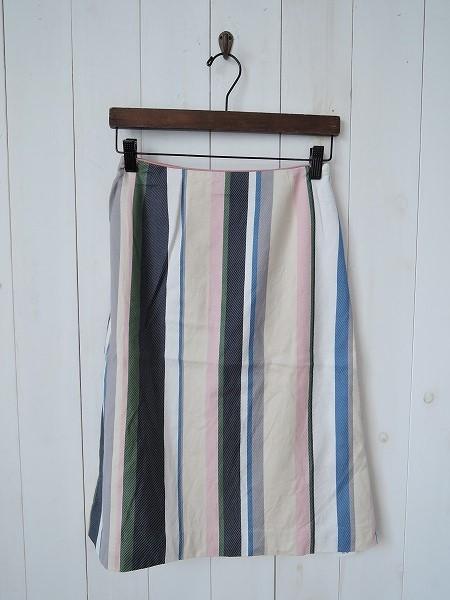ミナペルホネン mina perhonen multistripe スカート sizeF (sk33-1607-4) 【均一商品】