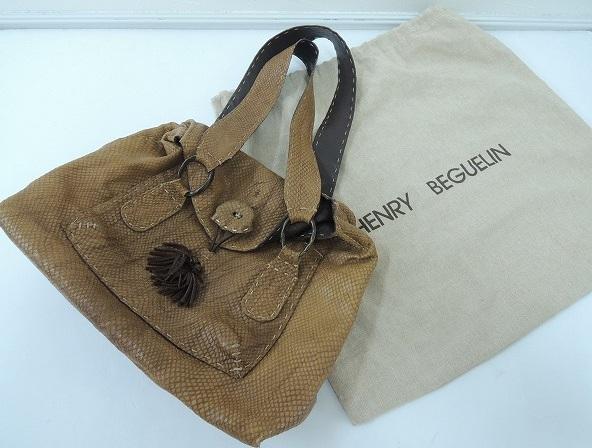 エンリーベグリン HENRY BEGUELIN オミノ刺繍ショルダーバッグ (270213-24)【均一商品】