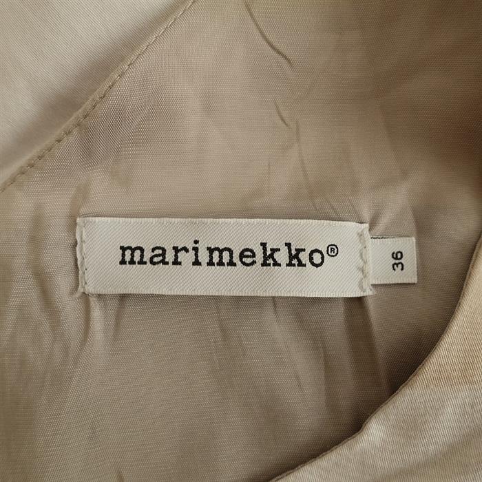 マリメッコ marimekko SUKLAAJATSKI コットンプリントワンピース 36(33-2009-653)【11J02】