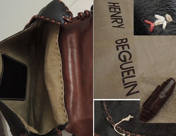 エンリーベグリン HENRY BEGUELIN オミノハラコレザーバッグ (290313-46)【均一商品】
