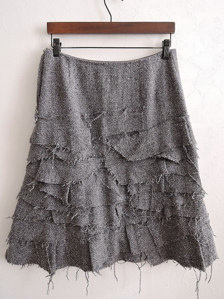 ミナペルホネン mina perhonen twinkle シルク混スカート size1 (sk11-1701-46)【均一商品】