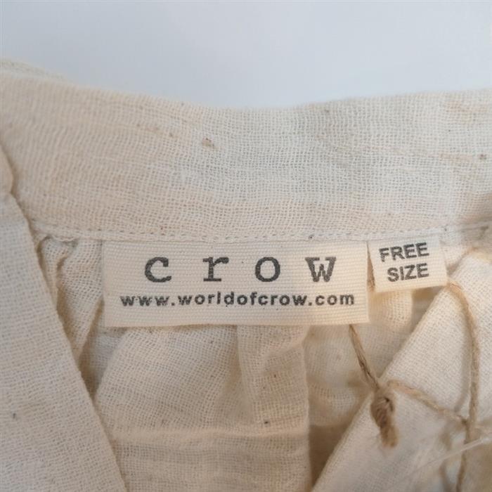 【新品】 クロウ crow oversized tunic オーバーサイズチュニック FREE SIZE(91-2010-29)【22G12】