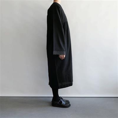 【新品】 クロウ crow dress with pintucks フロントタックワンピース(Black) FREE SIZE(91-2010-31)【22G12】