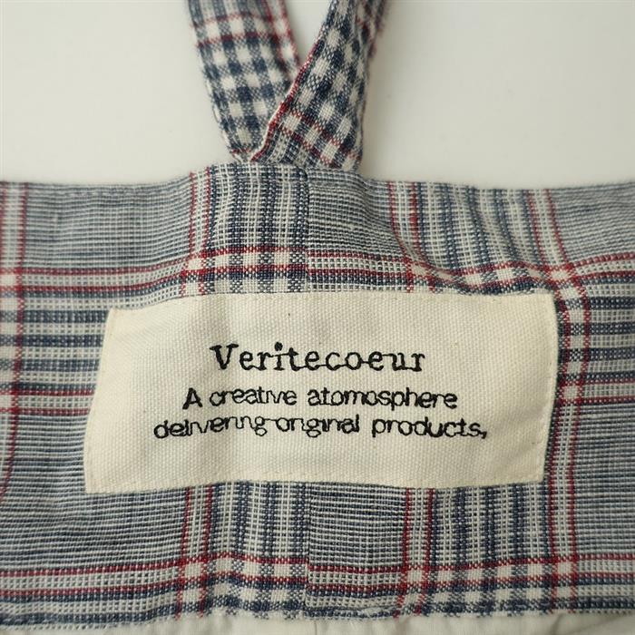 【未使用品】 ヴェリテクール Veritecoeur チェックショルダースカート F(sk33-2011-807)【71L02】