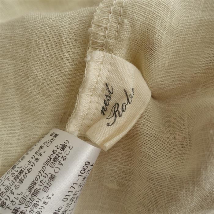 ネストローブ nest Robe リネンクレマチスプリントカシュクールドレス F(4-2007-133)【40H02】