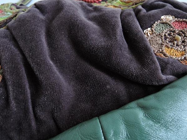 ジャマンピュエッシュ JAMIN PUECH コーデュロイ刺繍バッグ (ba85-1607-24) 【均一商品】