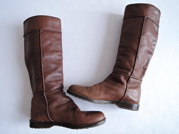 HENRY CUIR アンリークイール レザーロングブーツ size36.5/23.5 (sh80-1609-350) 【均一商品】