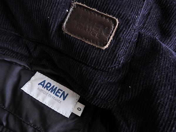 アーメン ARMEN フード付きリバーシブルダウンベスト size0 (jk1-1702-489)