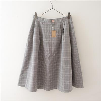 【美品】 リゼッタ Lisette エーベ チェックフレアスカート 38(sk1-2011-318)【22K02】
