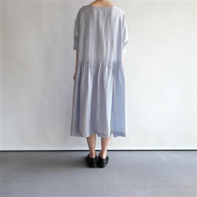 【新品】 ギャレゴデスポート GALLEGO DESPORTES too big dress ギャザー切替ワンピース M(91-2002-3)
