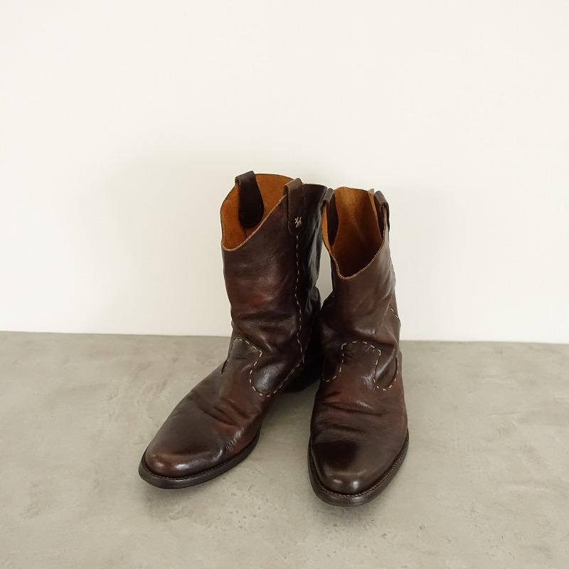 HENRY CUIR アンリークイール レザーショートブーツ size37/23.5 (sh80-1510-166)【均一商品】