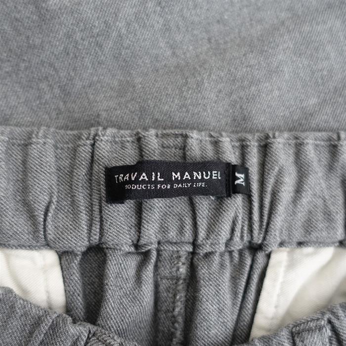 トラバイユマニュエル TRAVAIL MANUEL トップチノツータックパンツ M(33-2011-6)【51K02】
