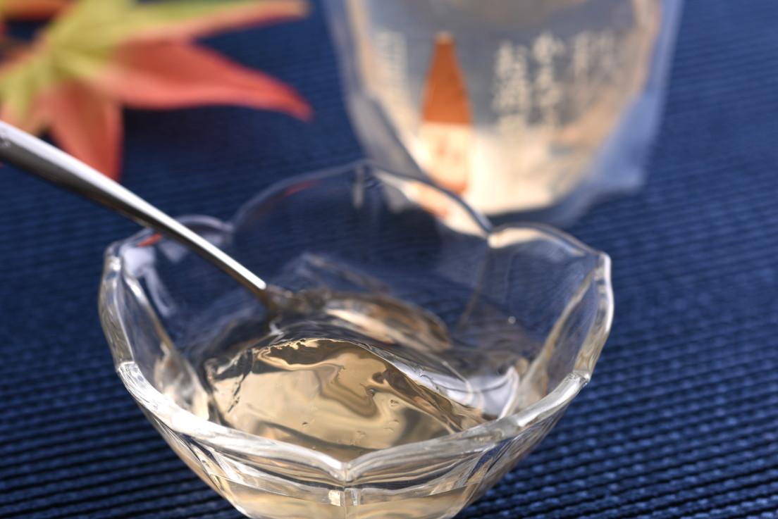 秩父産かえでのお酒を使ったのどごしスッキリな大人の味わい。「かえでのお酒ゼリー」