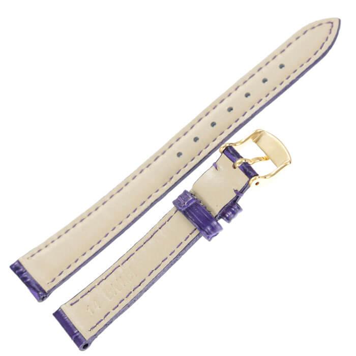BAMBI バンビ レザーベルト 革ベルト 14mm レザー パープル ゴールド 49621