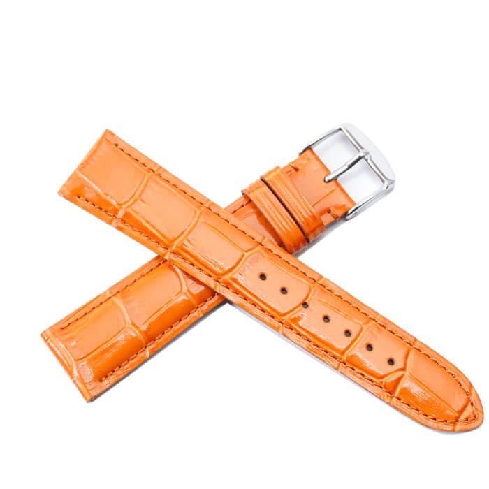 BAMBI バンビ レザーベルト 革ベルト 24mm レザー オレンジ シルバー 49635