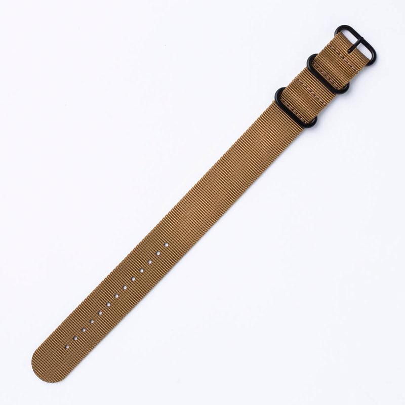 【スント対応 アダプターセット】MOD エムオーディー ZULU NYLON STRAP 24mm ナイロン ブロンズブラウン 49837 スント コア オールブラック SUUNTO CORE ALLBLACK
