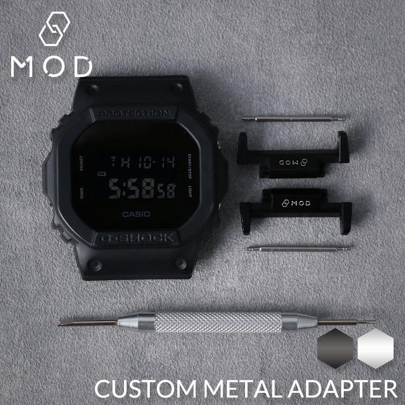 【G-SHOCK対応】アダプター MOD エムオーディー METAL ADAPTER 22mm アルミニウム ブラック 49957 ジーショック Gショック GSHOCK