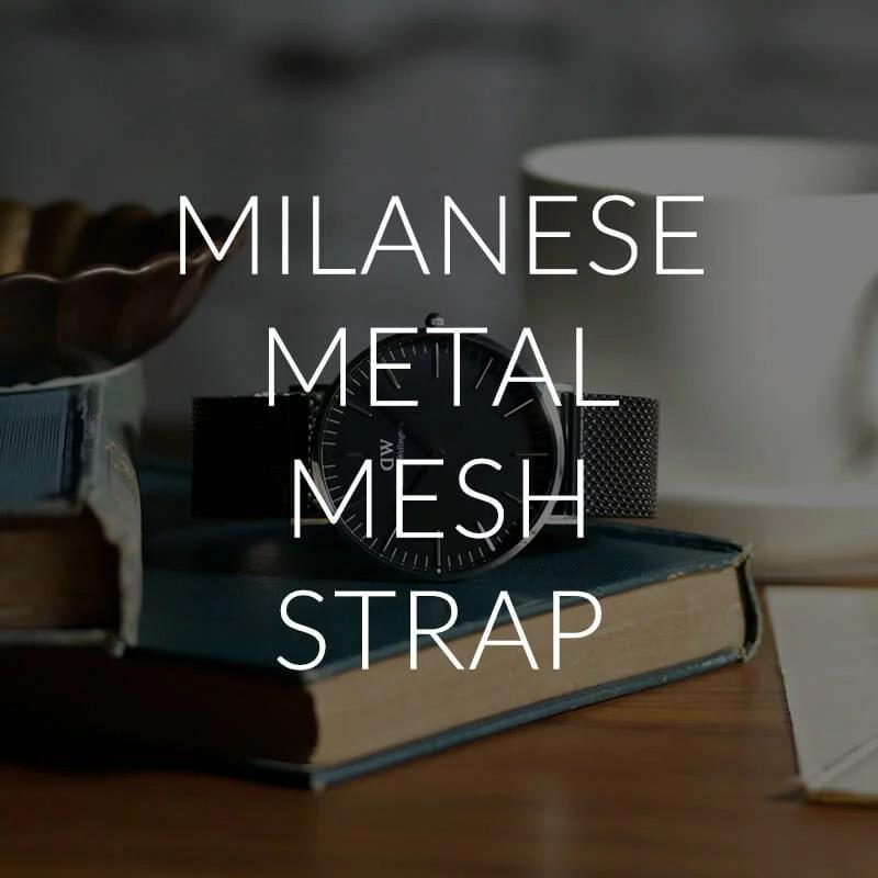 【4色から選べる】【ポールスミス対応】MOD エムオーディー ミラネーゼ メッシュベルト MILANESE METAL MESH STRAP 12mm ステンレススティール ローズゴールド ゴールド ブラック シルバー 49775 PAULSMITH