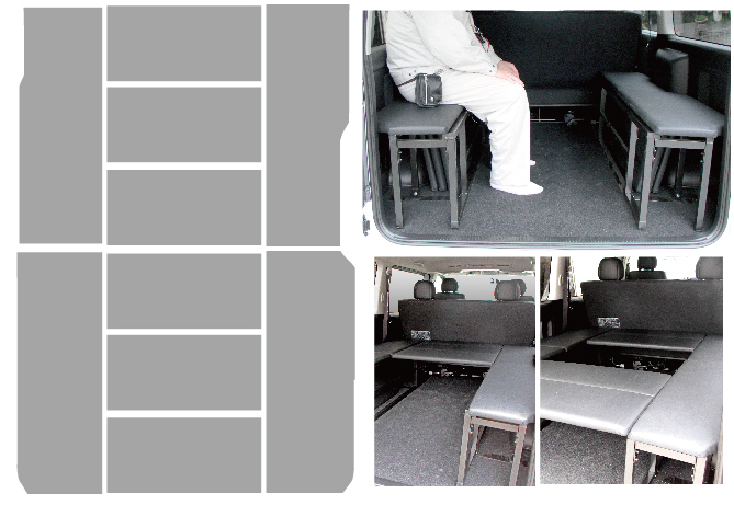 ハイエース ベッドキット 標準S-GL用 BOX型トランポ仕様