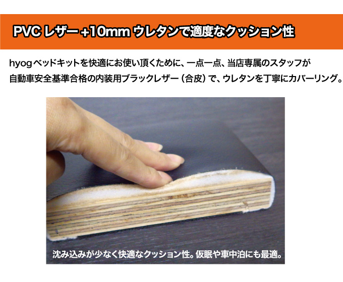ハイエースベッドキット ロータイプ 200系 ワイドS-GL用ブラックレザー【高さ25cmから35cmまで】