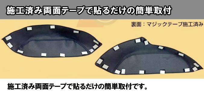 ハイエース200系 タイヤハウス レザーカバー セット 2P (荷室の傷つき防止) (1-5型対応)DX不可