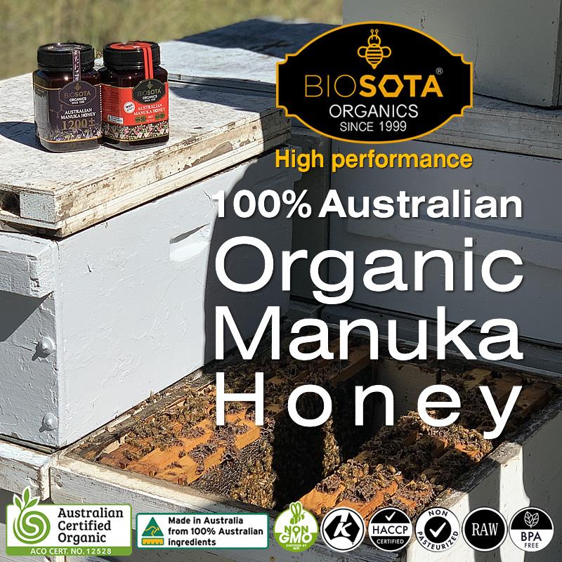 BIOSOTA マヌカハニー スティック MGO550+ NPA15+ オーガニック ACO認定 オーストラリア産 BOX(12g×12本)144g