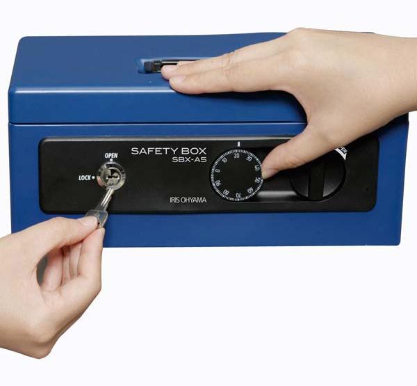 SBX-A5 ブルー 手提金庫 A5サイズ