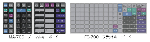 MA/FS-700 東芝TECレジスター (レジロール5巻付)