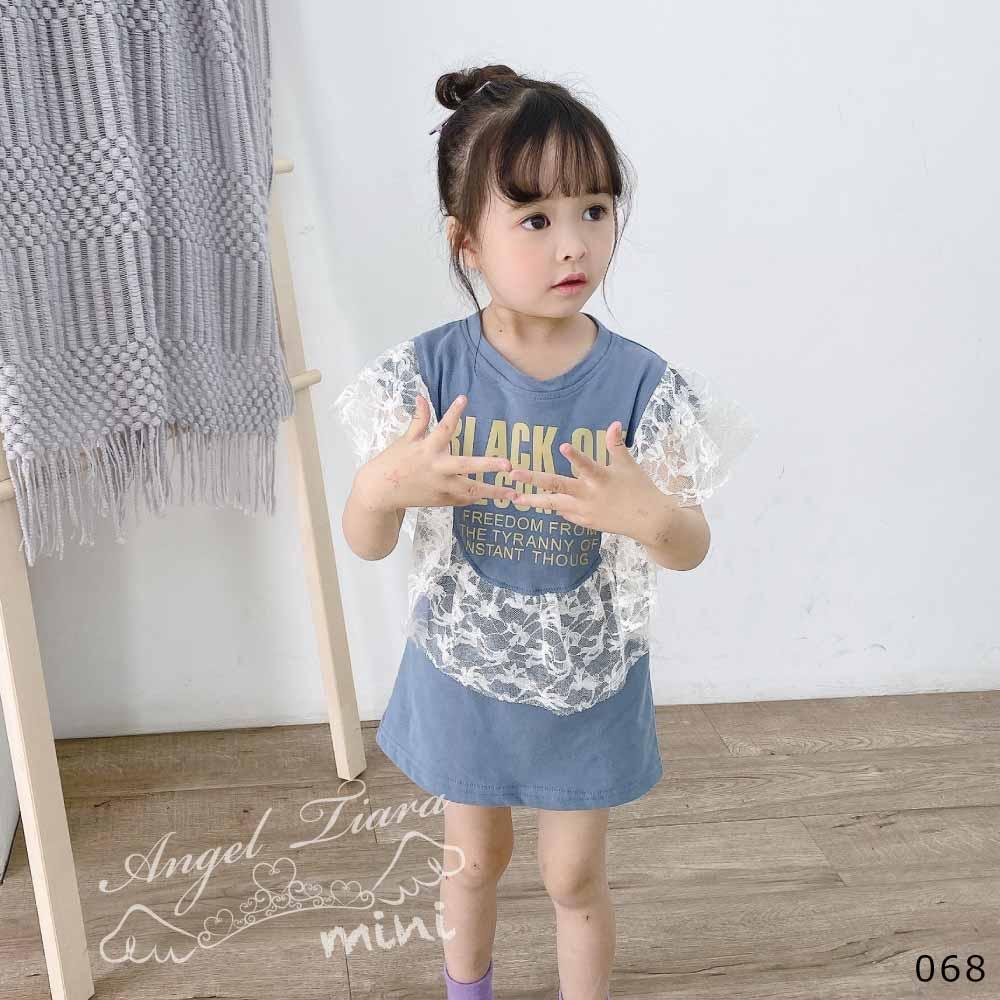 チュニック Tシャツ レース付き 春 夏 KG068
