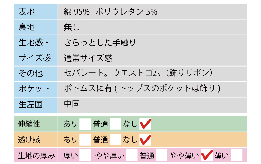 上下セットデニム風 KG076