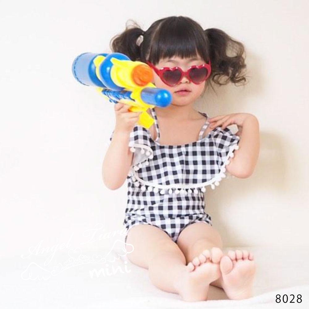 子供服 女の子 水着 キッズ ワンピース水着 ギンガムチェック ジュニア KGS8028