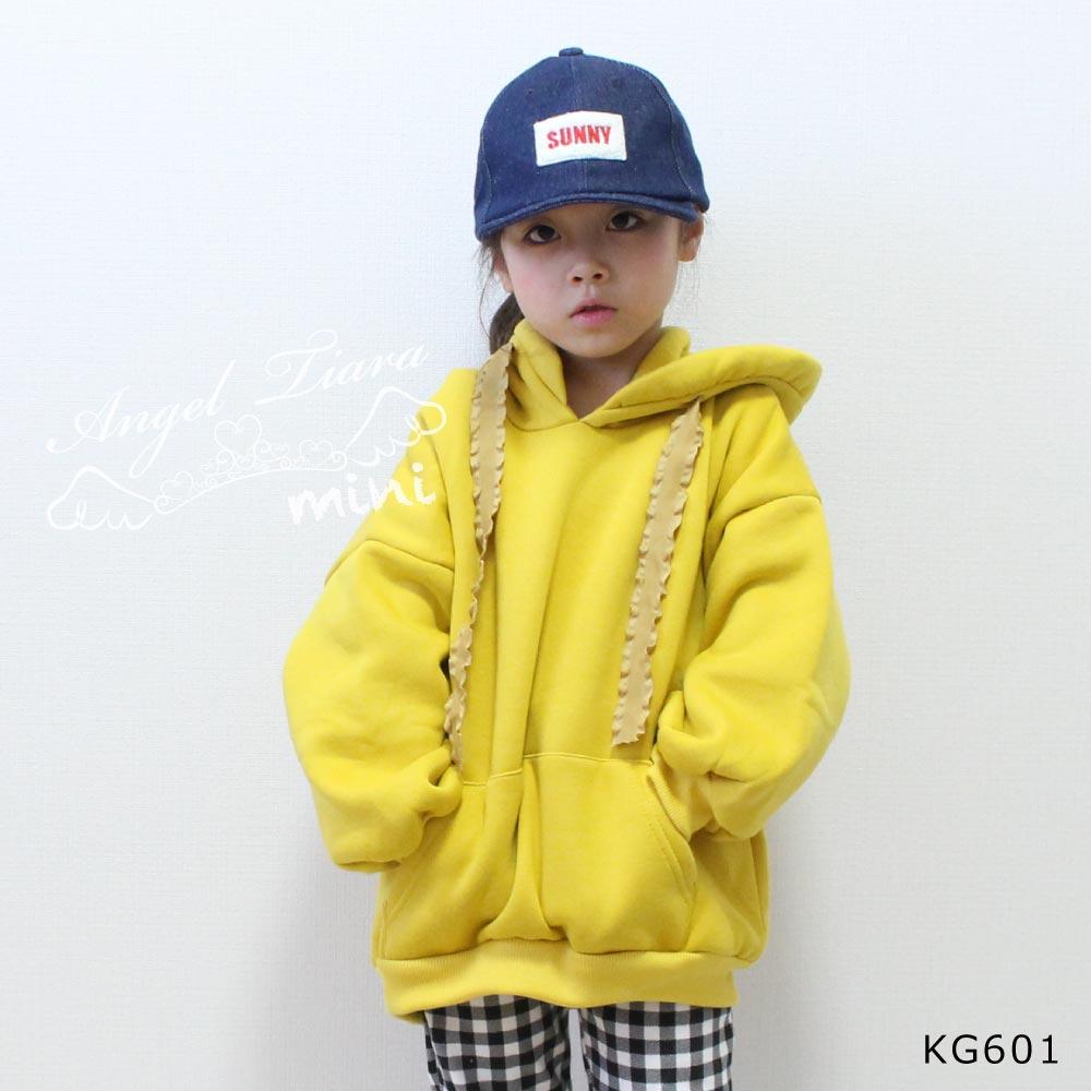 子供服 キッズ 女の子 トップス トレーナー フード付き パーカー 裏起毛 長袖 秋 冬 春 KG601