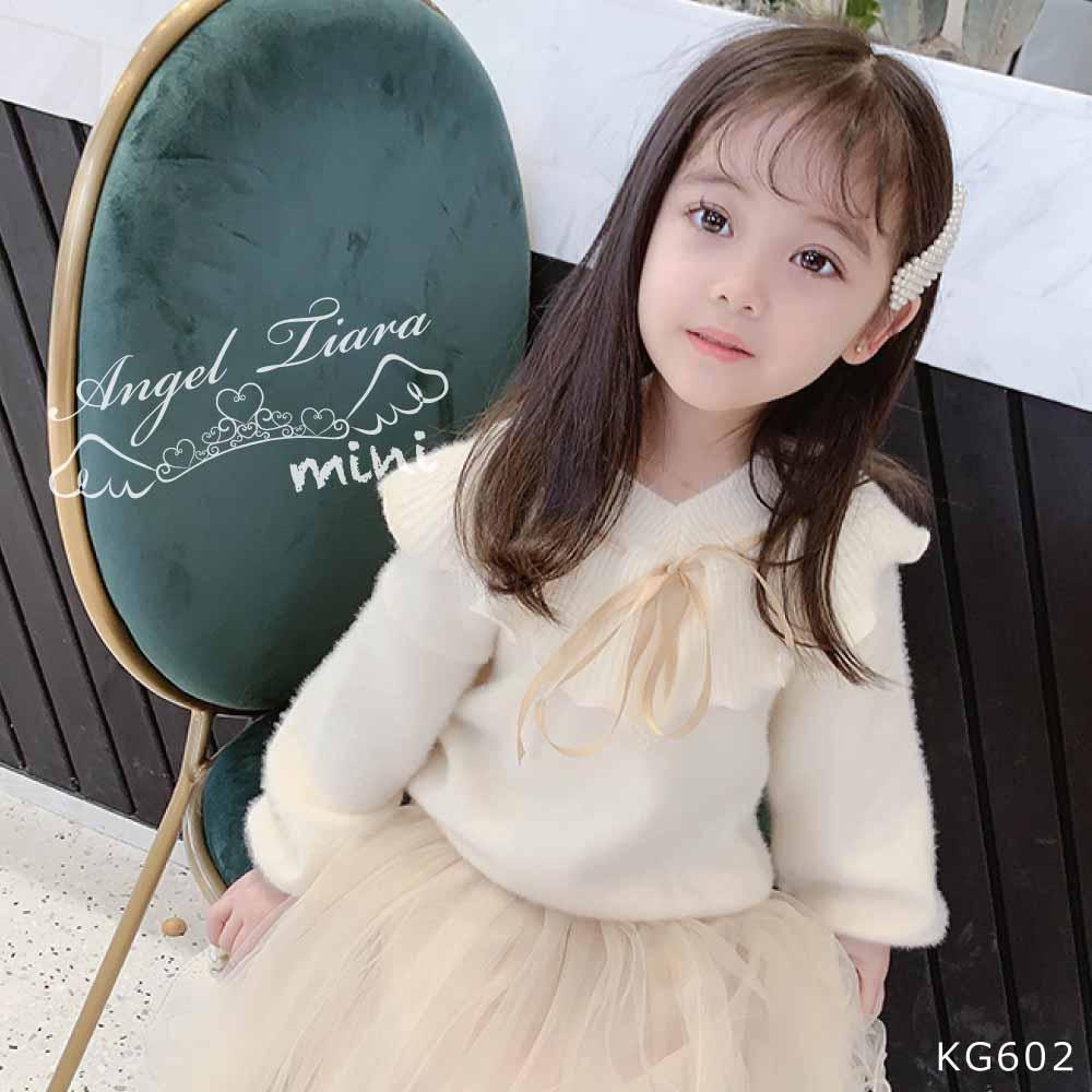 子供服 キッズ 女の子 トップス ニット モヘア ふわふわ 長袖 秋 冬 春 3色 KG602