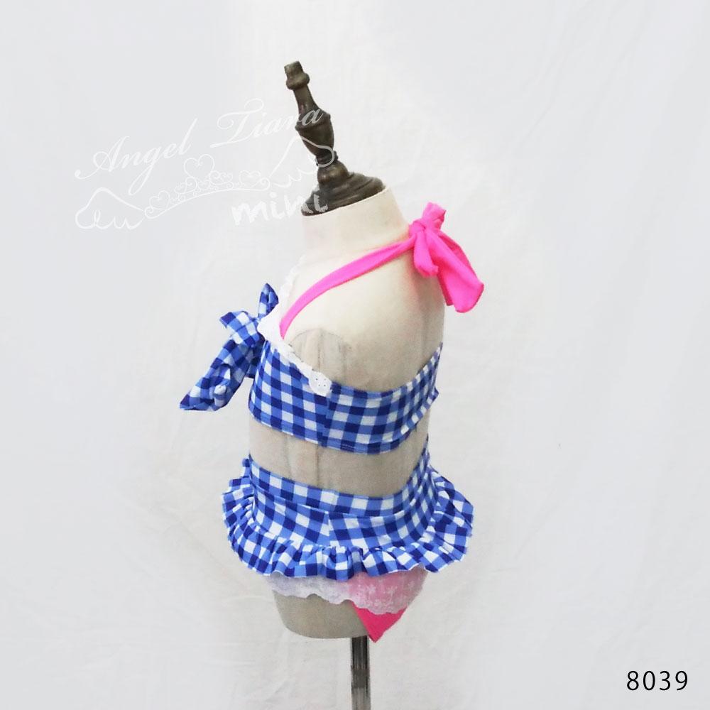 子供服 女の子 水着 キッズ セパレート水着 ビキニ 上下セット 2点セット ギンガムチェック ブルー 青 海 プール 温泉 スイムウエアー KGS8039