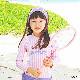 子供服 女の子 水着 キッズ セパレート 上下セット2点セット 上下別柄 長袖トップス 日焼け防止 ピンク パープル ストライプ 海 プール 温泉 スイムウエアー KGS8040