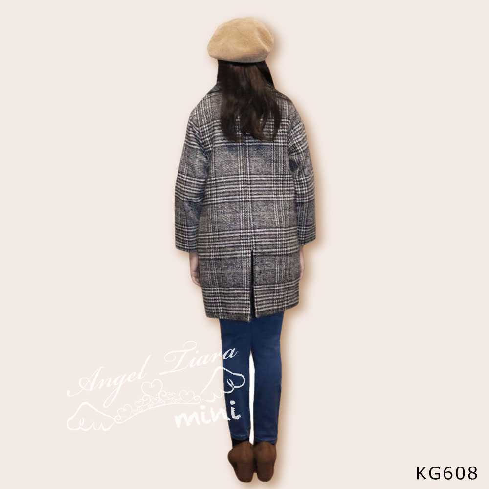 子供服 キッズ 女の子 アウター コート グレンチェック 裏地付き 長袖 秋 冬 春 ジュニア KG608