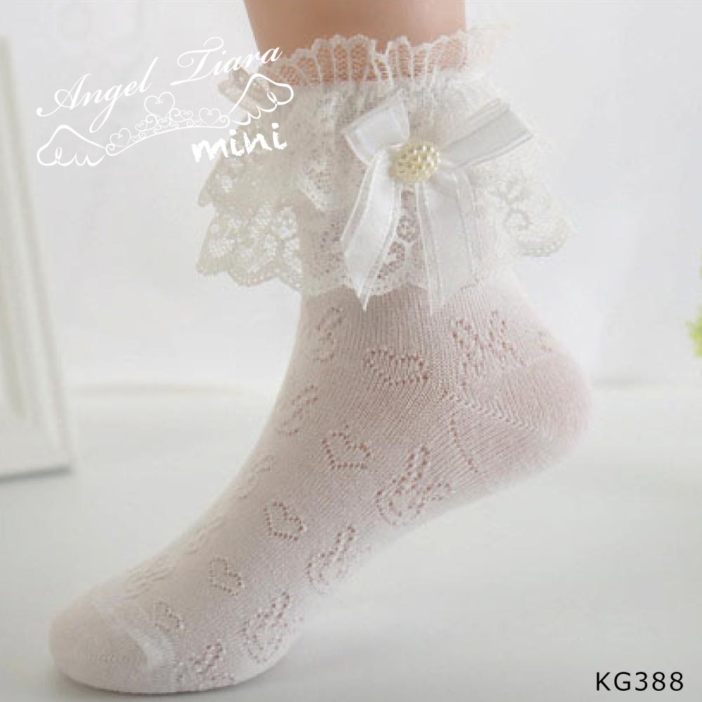 子供 ショート ソックス 靴下 レース付 KG388