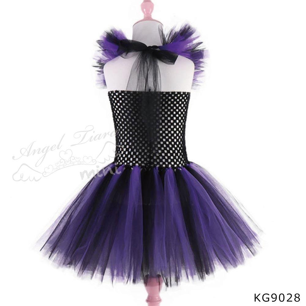 ハロウィン コスチューム 仮装 衣装 魔女 魔法使い 小悪魔 ブラック パープル KG9028