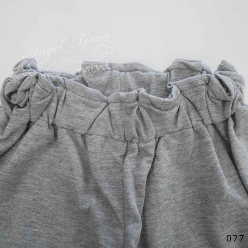 子供服 キッズ 女の子 上下セット トップス + スカンツ 半袖 ラフコーデ カジュアル グレー夏 KG077