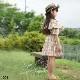 子供服 キッズ 女の子 ワンピース 半袖 ワンピ チェック柄 イエロー チェック柄 肩見せ 黄色 夏 KG081
