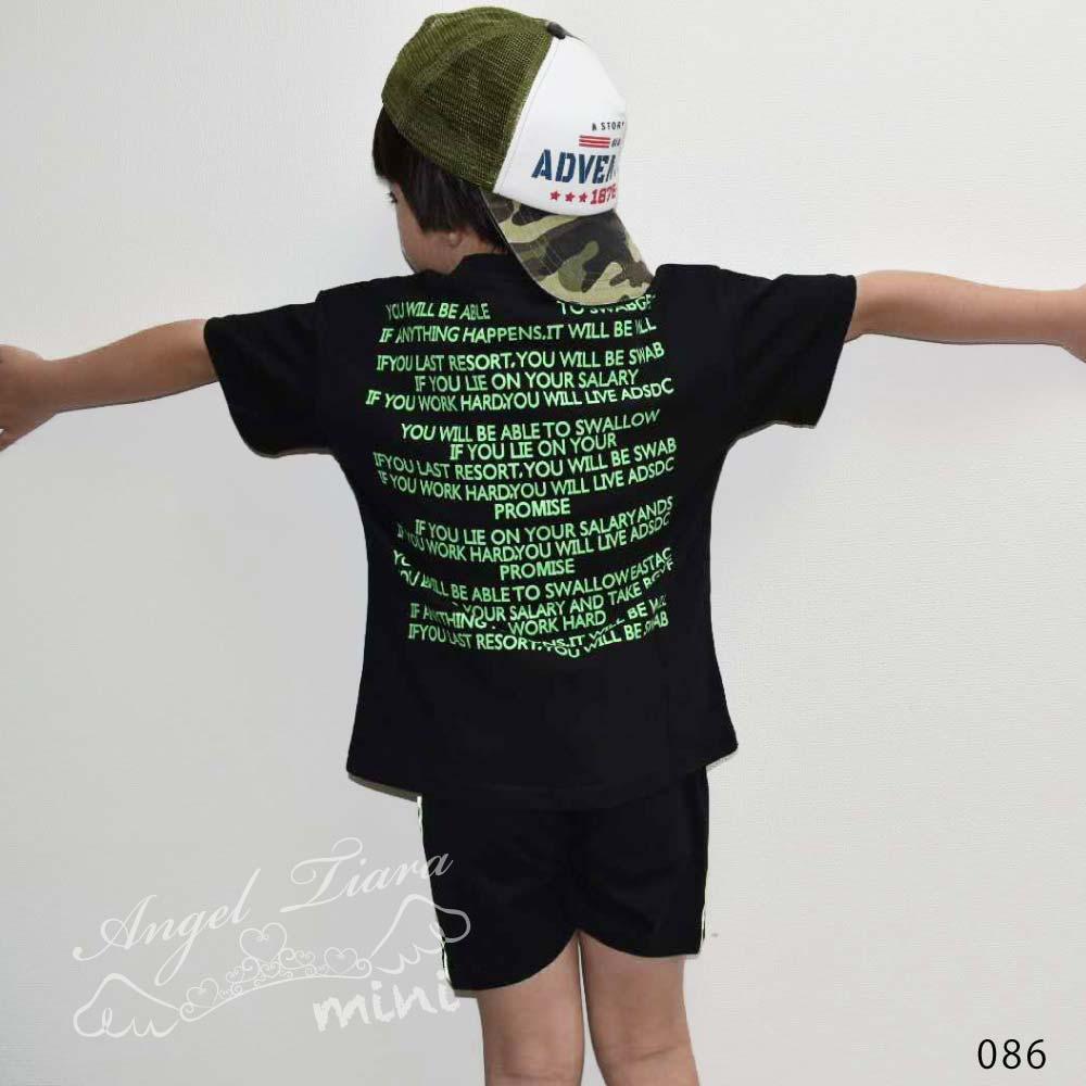 子供服 キッズ 男の子 上下セット トップス + ズボン Tシャツ 半ズボン 半袖 ストリート HIPHOP B系 カジュアル 夏 KG086