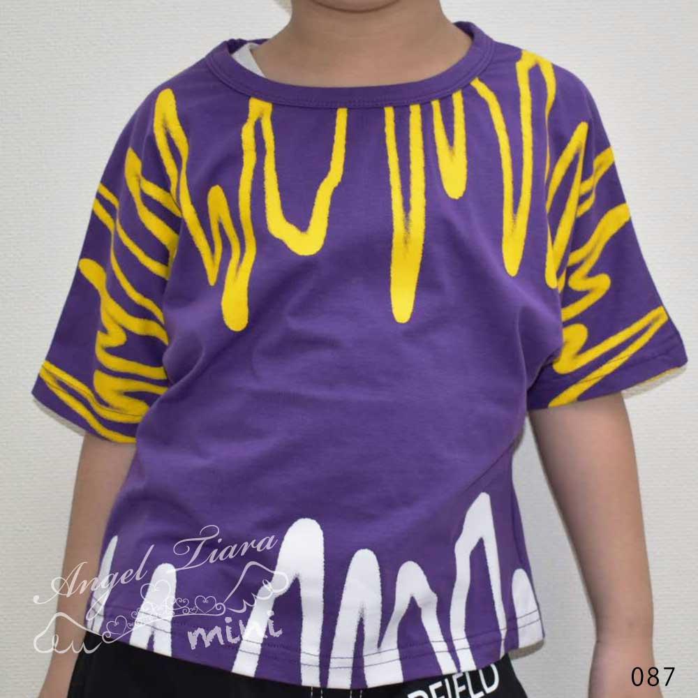 子供服 キッズ 男の子 上下セット トップス + ズボン Tシャツ 半ズボン 半袖 ストリート HIPHOP B系 カジュアル 夏 KG087