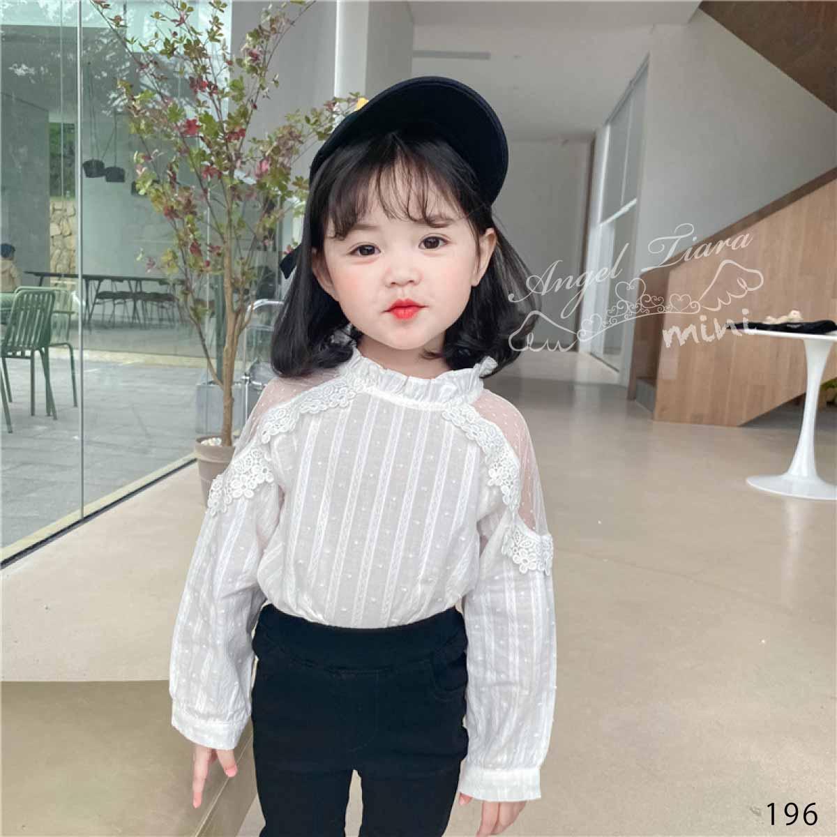 子供服 キッズ 女の子 トップス 肩だし レース ホワイト 長袖  フォーマル 韓国服 春 秋 KG196