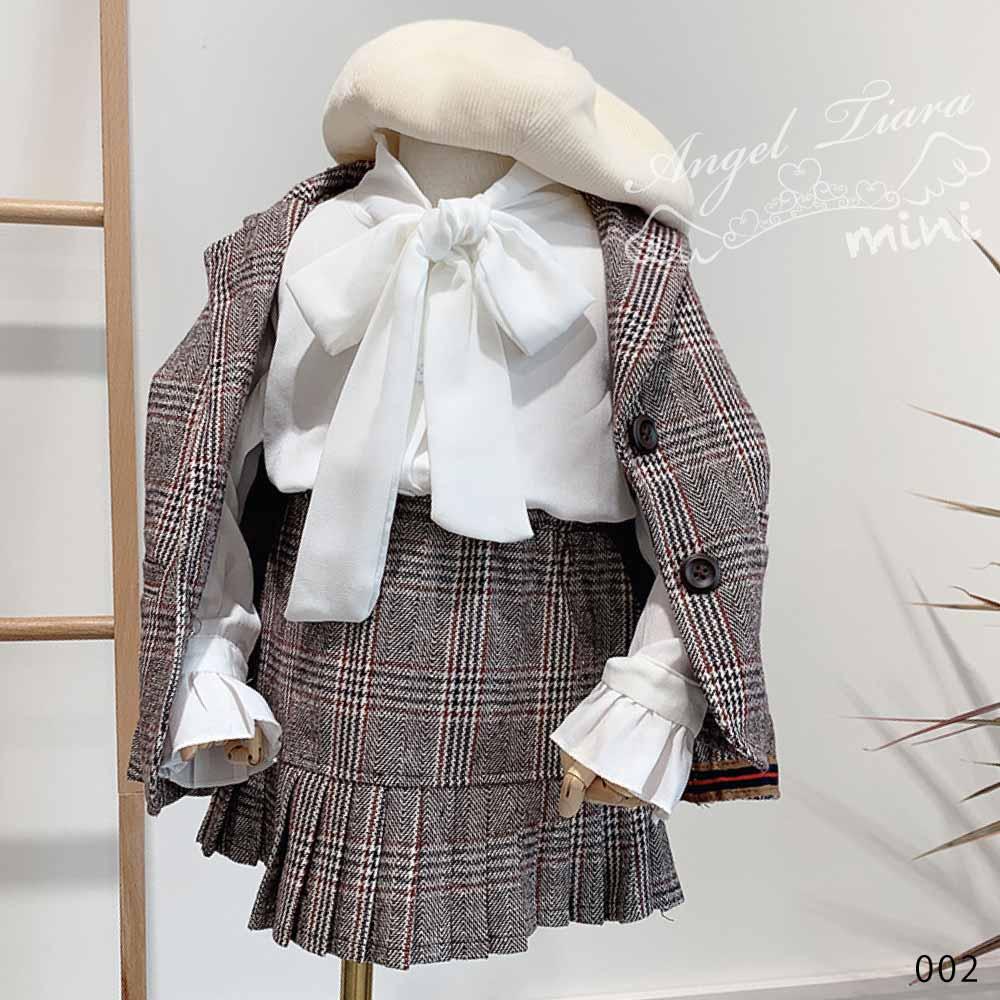 子供服 キッズ 女の子 スーツ 上下セット フォーマル 2点セット ジャケット スカート チェック柄 入学式 卒業式 イベント 発表会 KG002