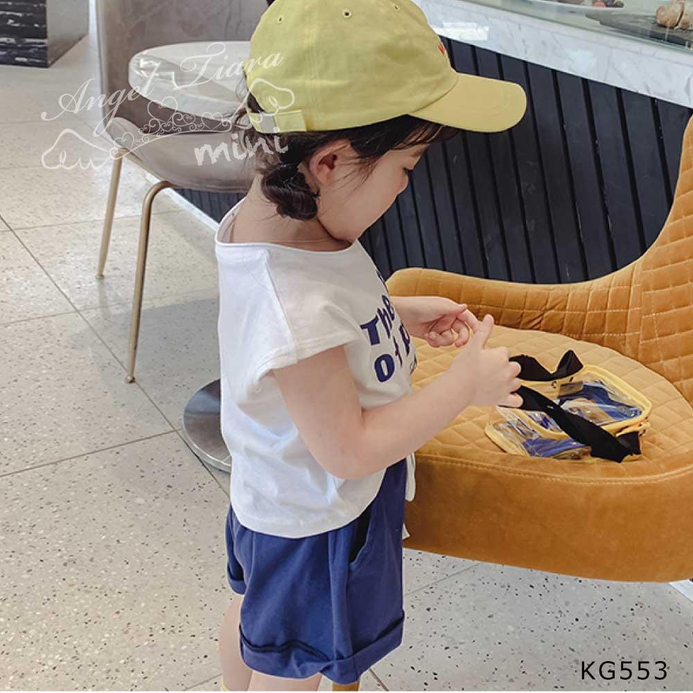 子供服 キッズ 女の子 ジュニア 上下セット 2点セット トップス + ボトムス 半袖 短パン  KG553