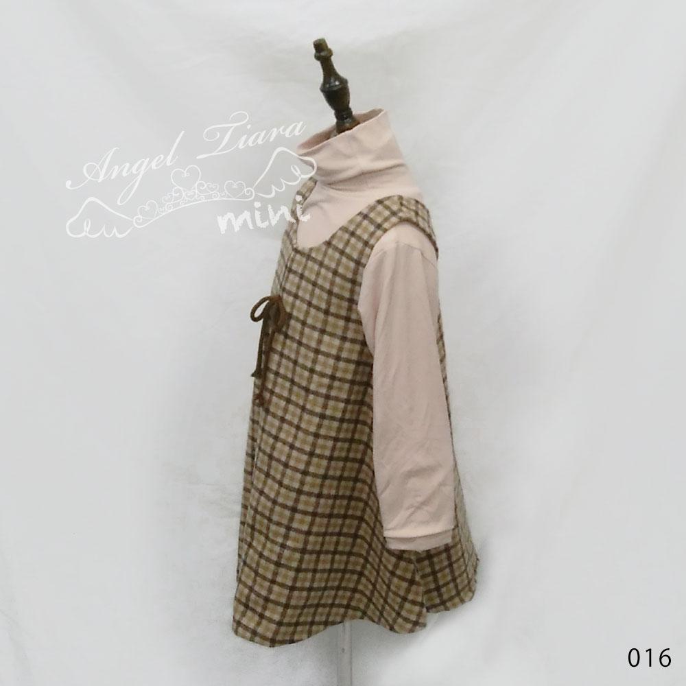 子供服 キッズ 女の子 トップス ワンピース 2点セット 裏起毛 チェック柄 上品 フォーマル 可愛い KG016