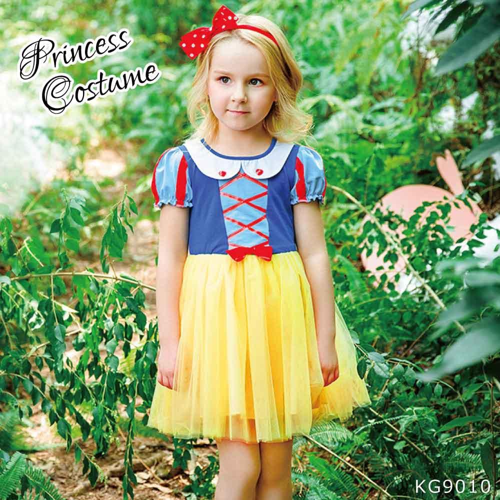子供 キッズ 女の子 コスチューム ハロウィン 白雪姫風 ドレス パーティードレス KG9010