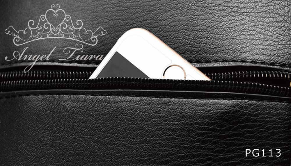 レディース カバン リュック バック バックパック ブラック オフホワイト ラウンド型 PG113